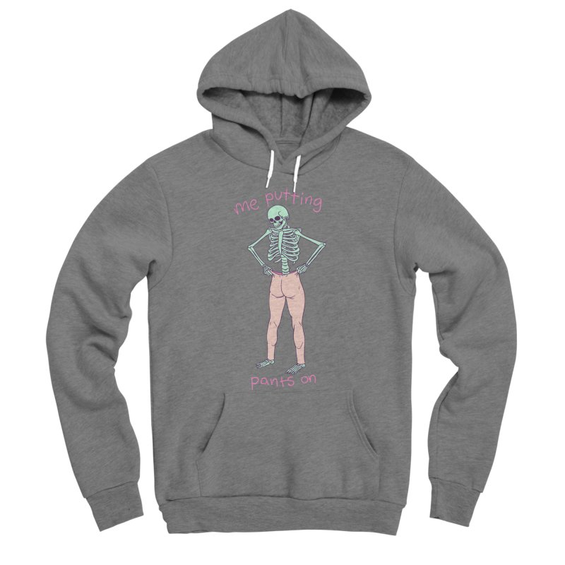 Backwards Pants Men's Sponge Fleece Pullover Hoody by Hillary White