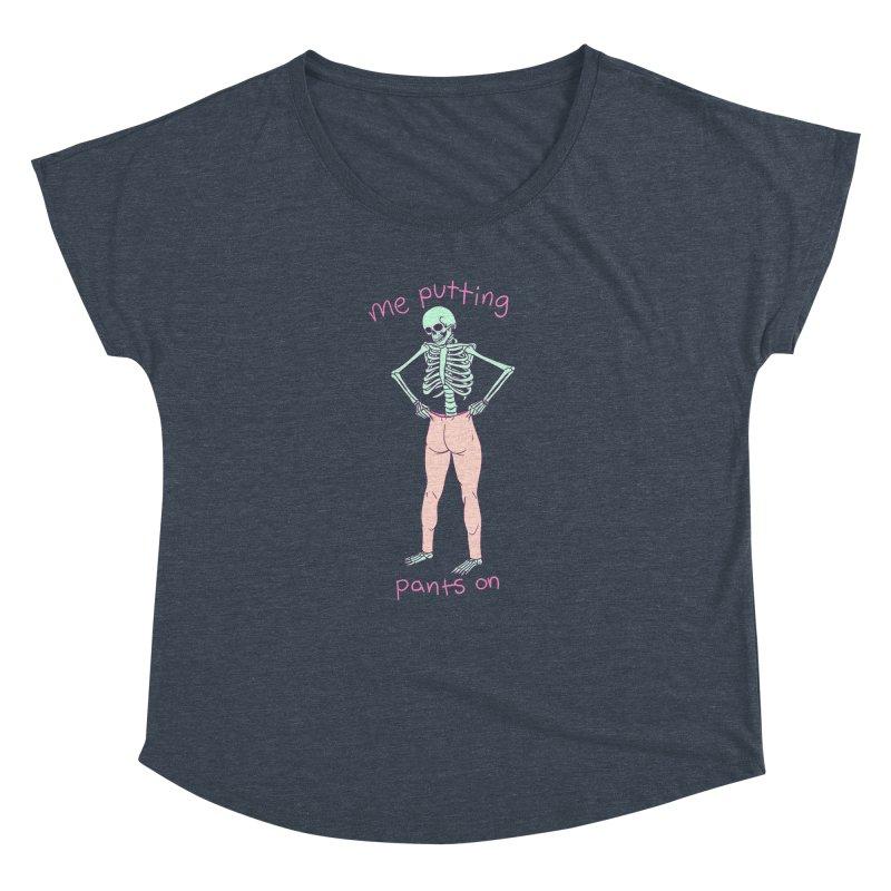 Backwards Pants Women's Dolman Scoop Neck by Hillary White