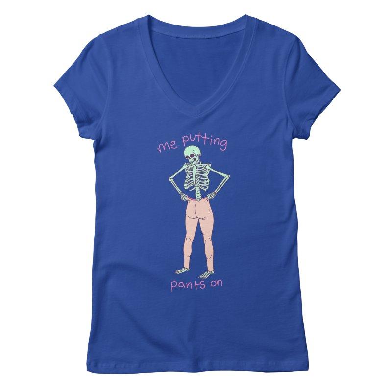 Backwards Pants Women's Regular V-Neck by Hillary White