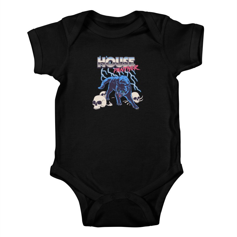House Panther Kids Baby Bodysuit by Hillary White