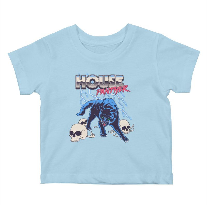 House Panther Kids Baby T-Shirt by Hillary White