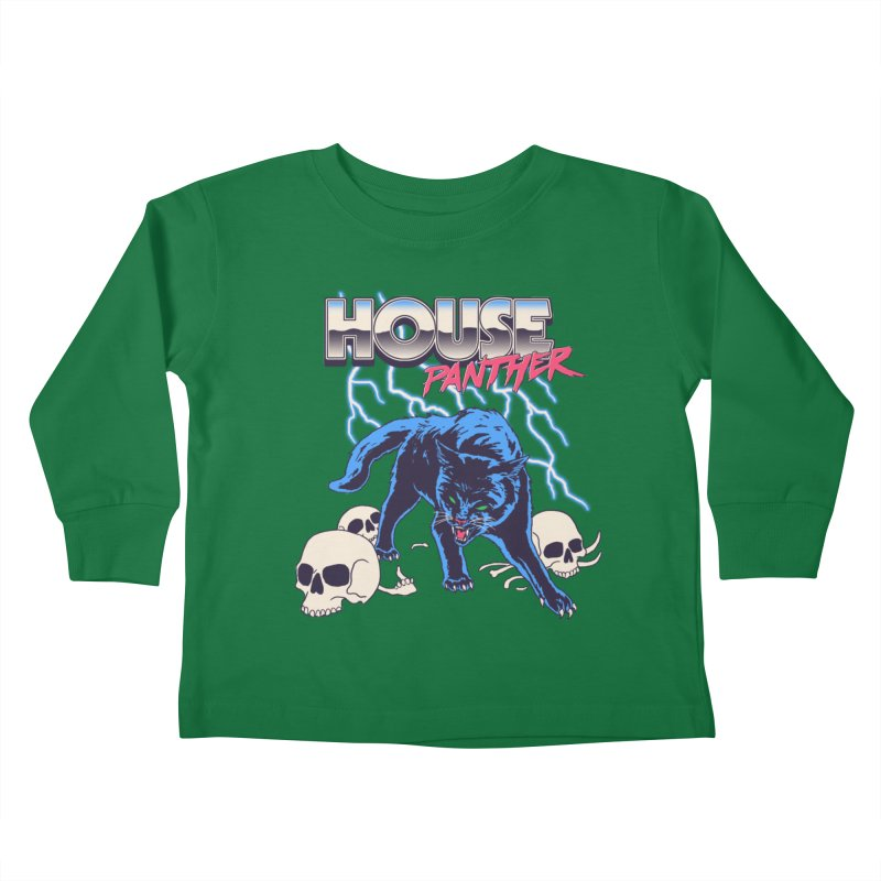 House Panther Kids Toddler Longsleeve T-Shirt by Hillary White