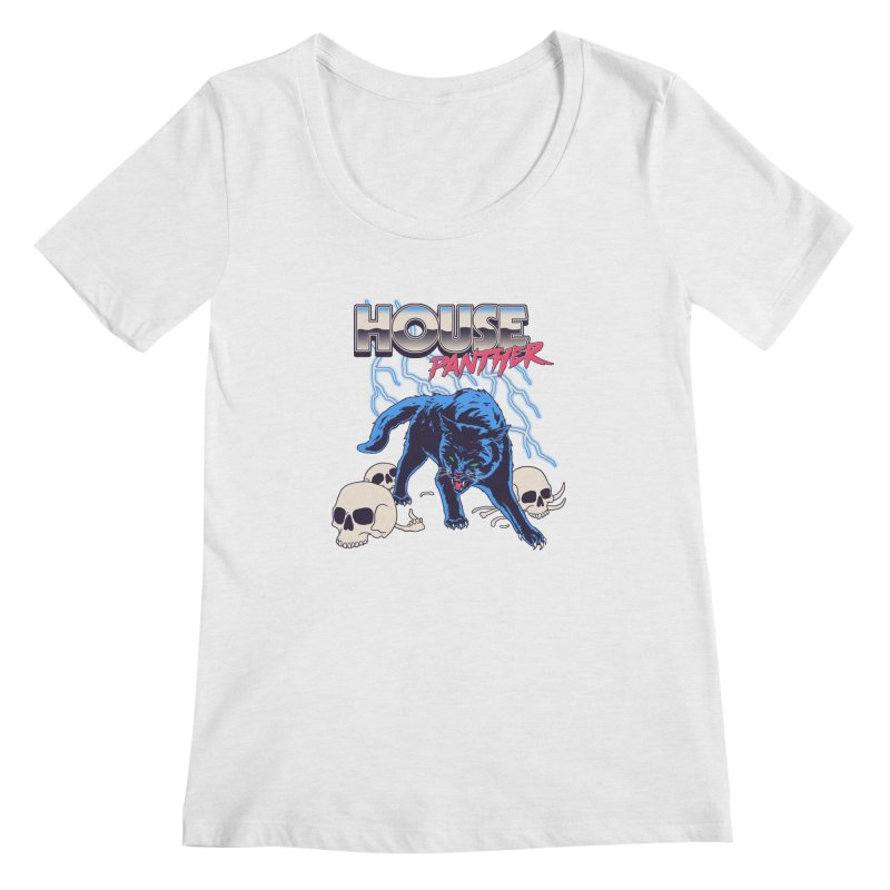 House Panther Women's Regular Scoop Neck by Hillary White