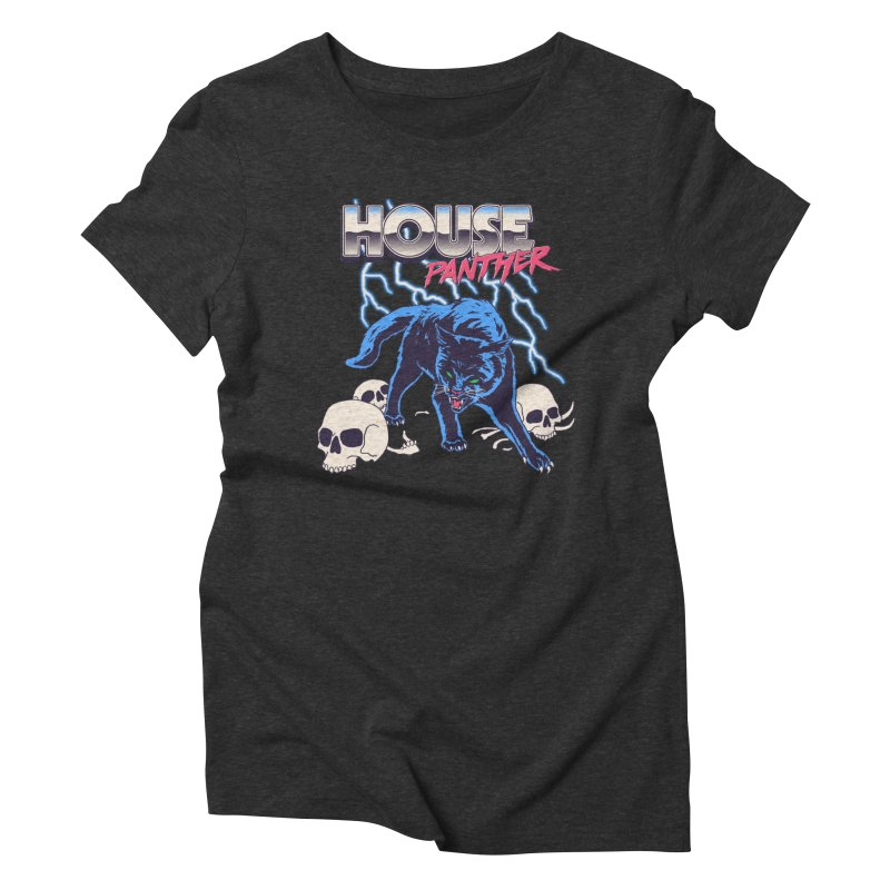 House Panther Women's Triblend T-Shirt by Hillary White