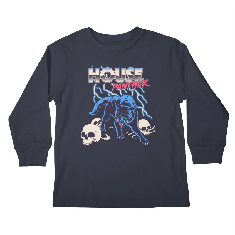 House Panther Kids Longsleeve T-Shirt by Hillary White