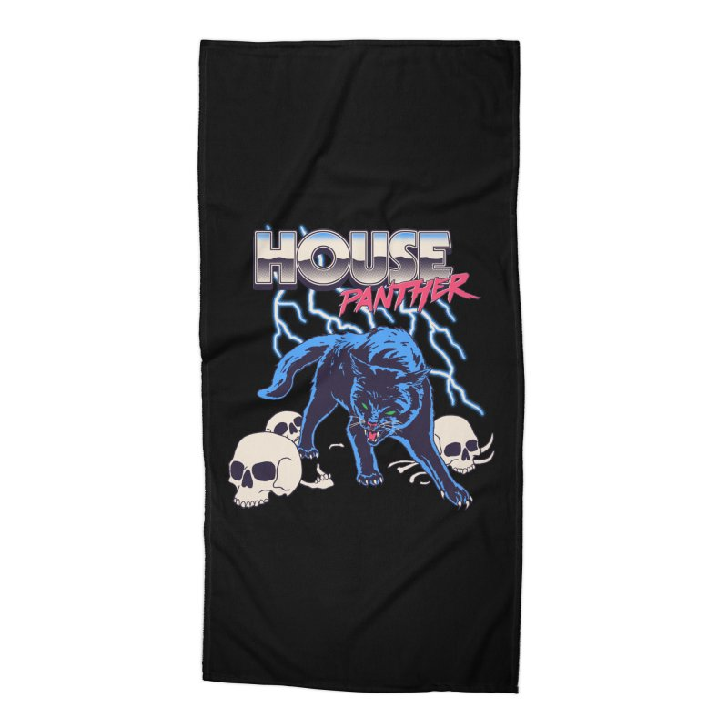 House Panther Accessories Beach Towel by Hillary White