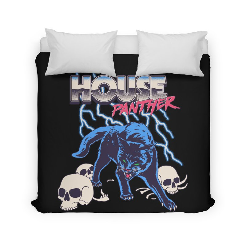 House Panther Home Duvet by Hillary White