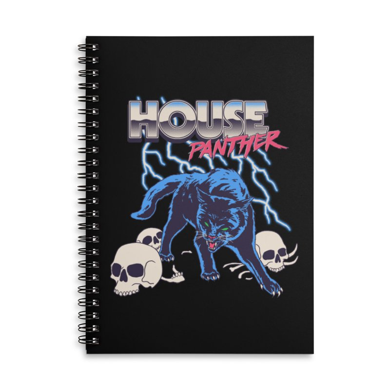 House Panther Accessories Lined Spiral Notebook by Hillary White