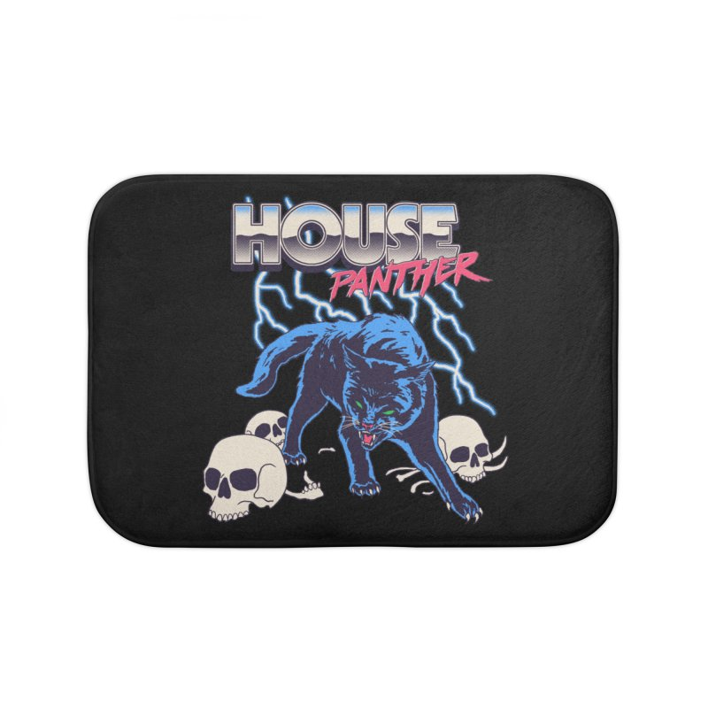 House Panther Home Bath Mat by Hillary White