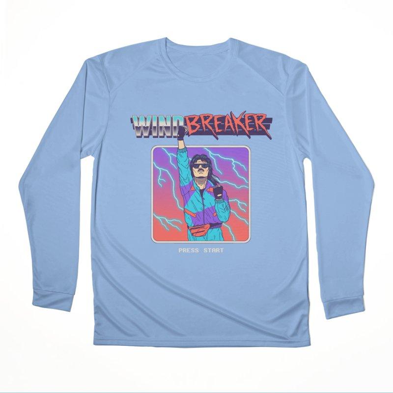 Windbreaker Women's Performance Unisex Longsleeve T-Shirt by Hillary White
