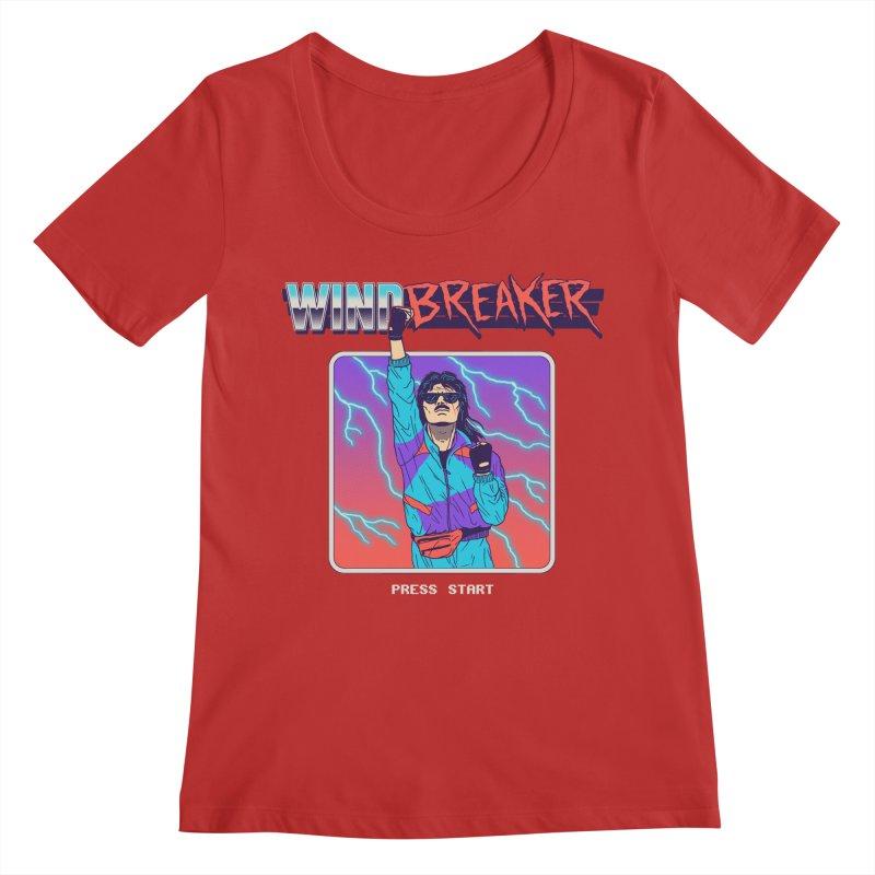 Windbreaker Women's Regular Scoop Neck by Hillary White