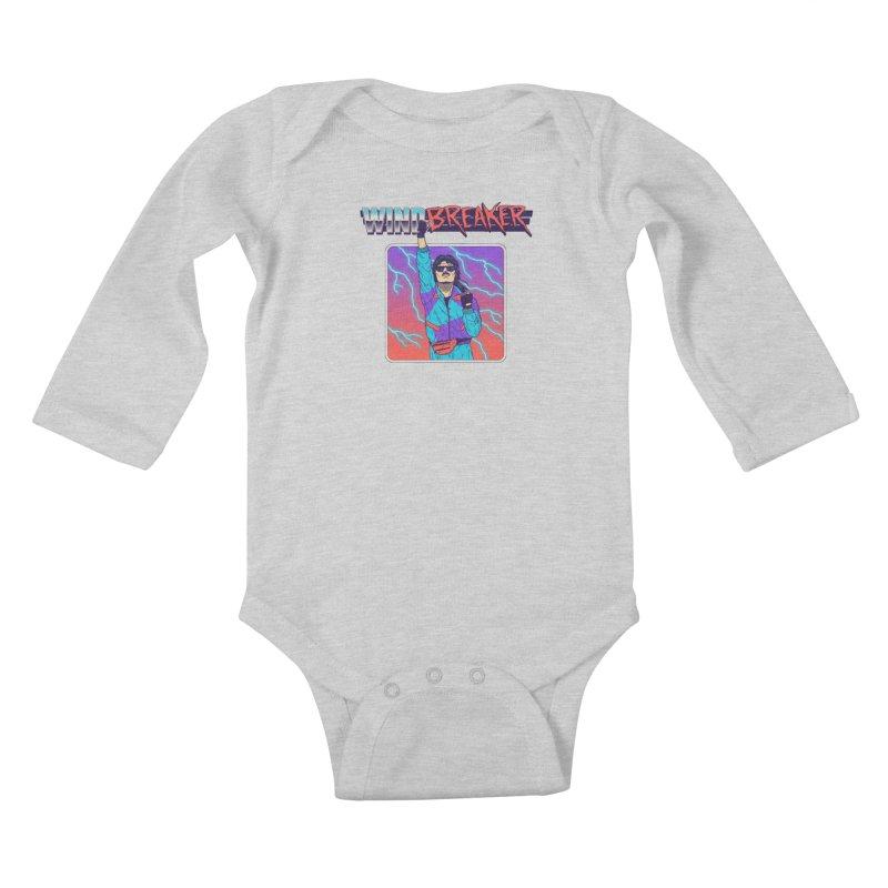 Windbreaker Kids Baby Longsleeve Bodysuit by Hillary White