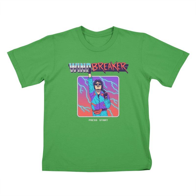 Windbreaker Kids T-Shirt by Hillary White