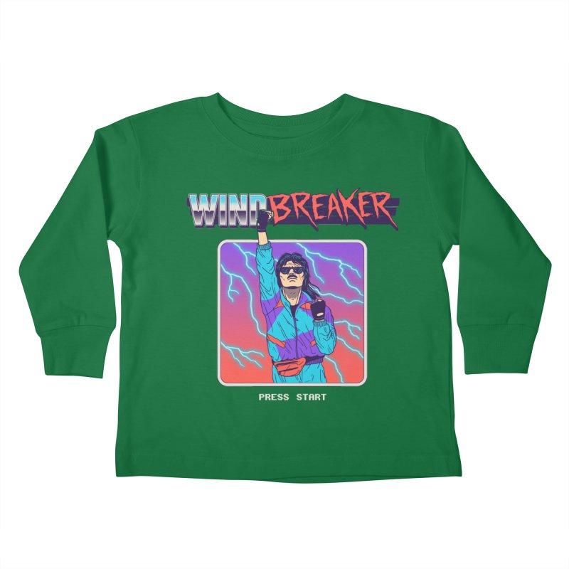 Windbreaker Kids Toddler Longsleeve T-Shirt by Hillary White