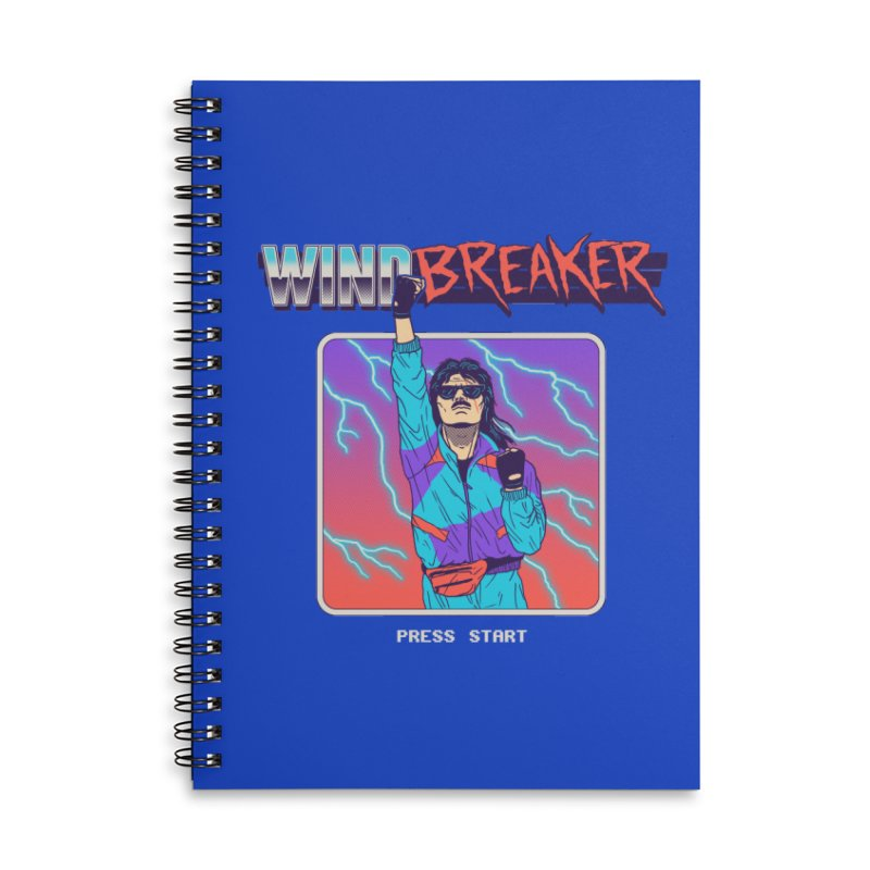 Windbreaker Accessories Lined Spiral Notebook by Hillary White