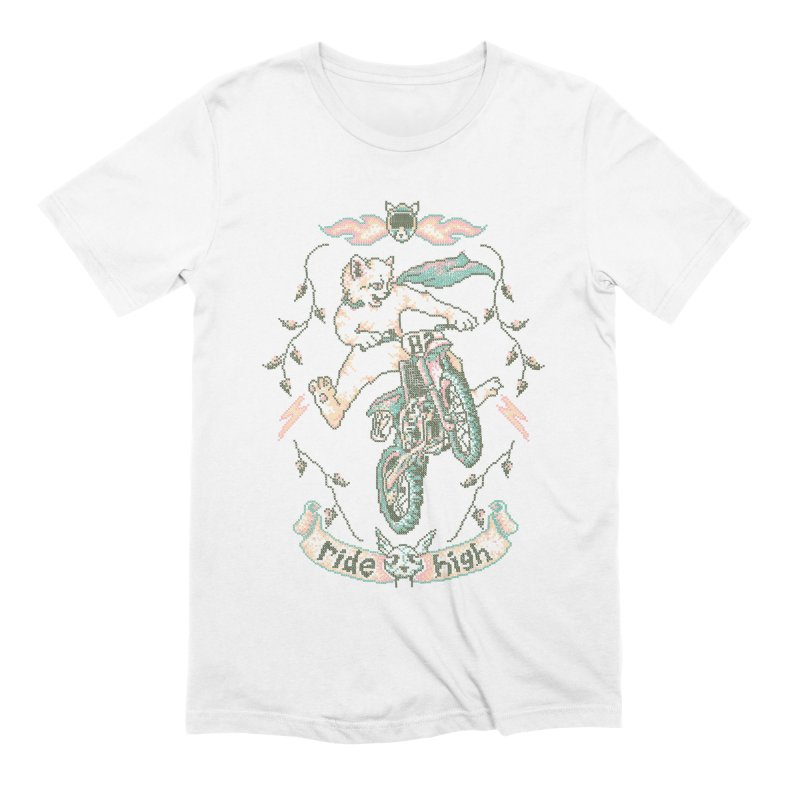 Motocross-Stitch Kitteh Men's Extra Soft T-Shirt by Hillary White