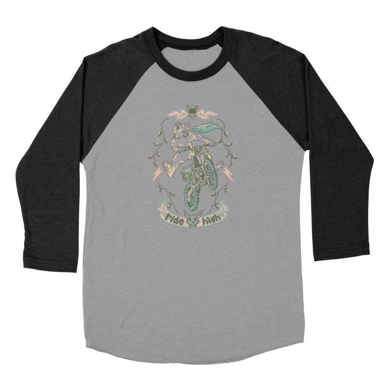 Motocross-Stitch Kitteh Women's Baseball Triblend Longsleeve T-Shirt by Hillary White