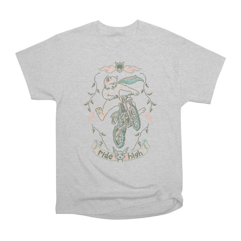 Motocross-Stitch Kitteh Men's Heavyweight T-Shirt by Hillary White