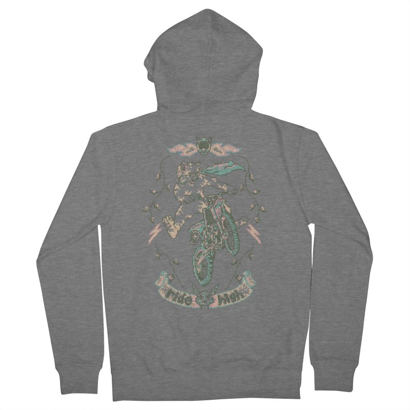 Motocross-Stitch Kitteh Men's French Terry Zip-Up Hoody by Hillary White