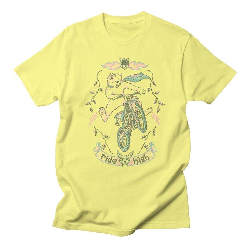Motocross-Stitch Kitteh Men's Regular T-Shirt by Hillary White