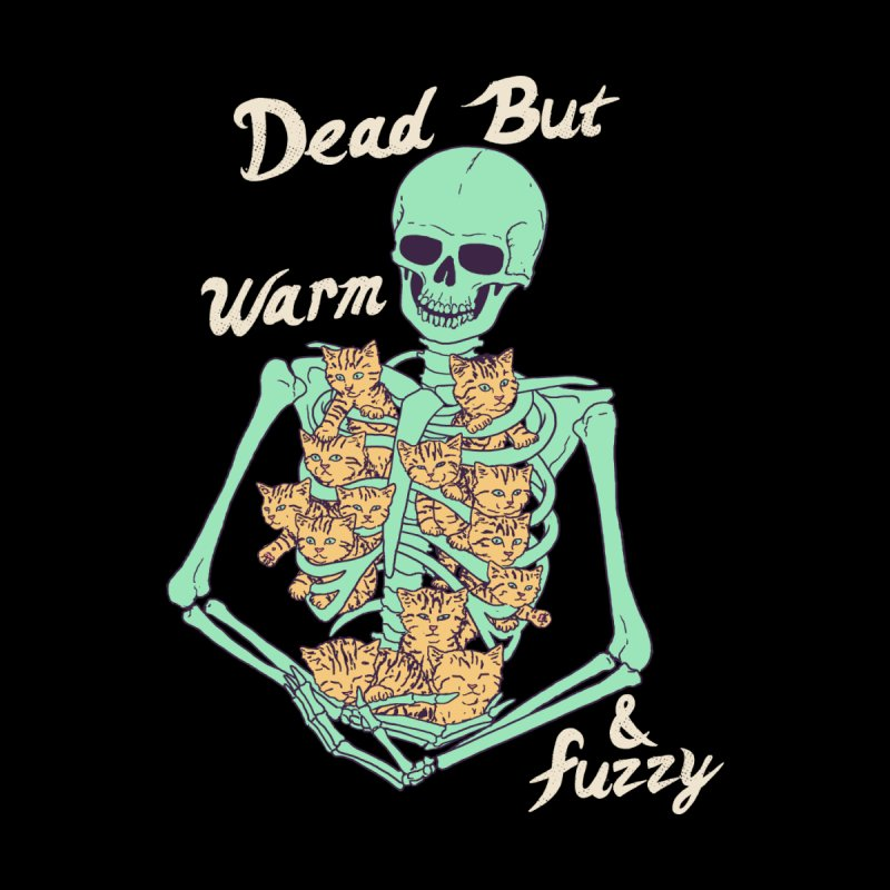 Dead But Warm & Fuzzy Home Duvet by Hillary White