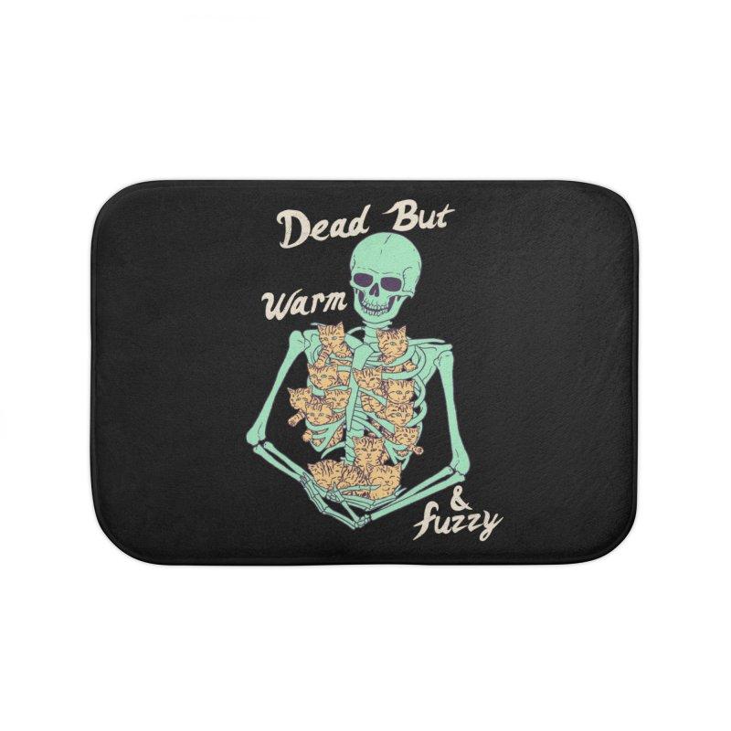 Dead But Warm & Fuzzy Home Bath Mat by Hillary White