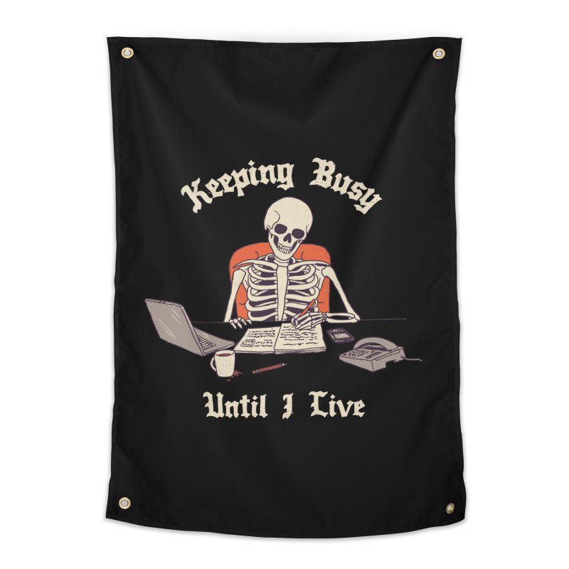 Keeping Busy Until I Live Home Tapestry by Hillary White