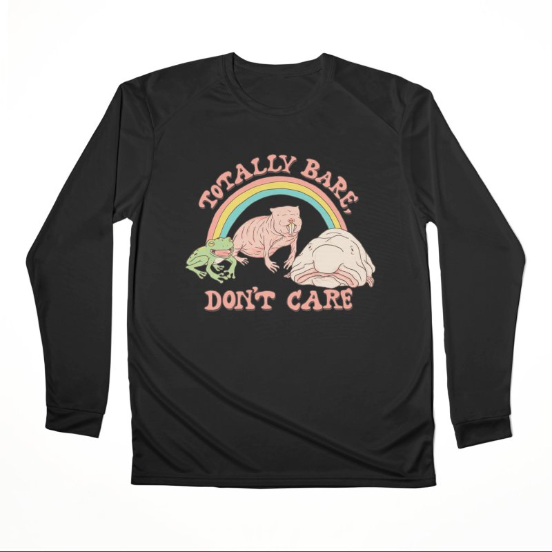 Totally Bare, Don't Care Men's Performance Longsleeve T-Shirt by Hillary White