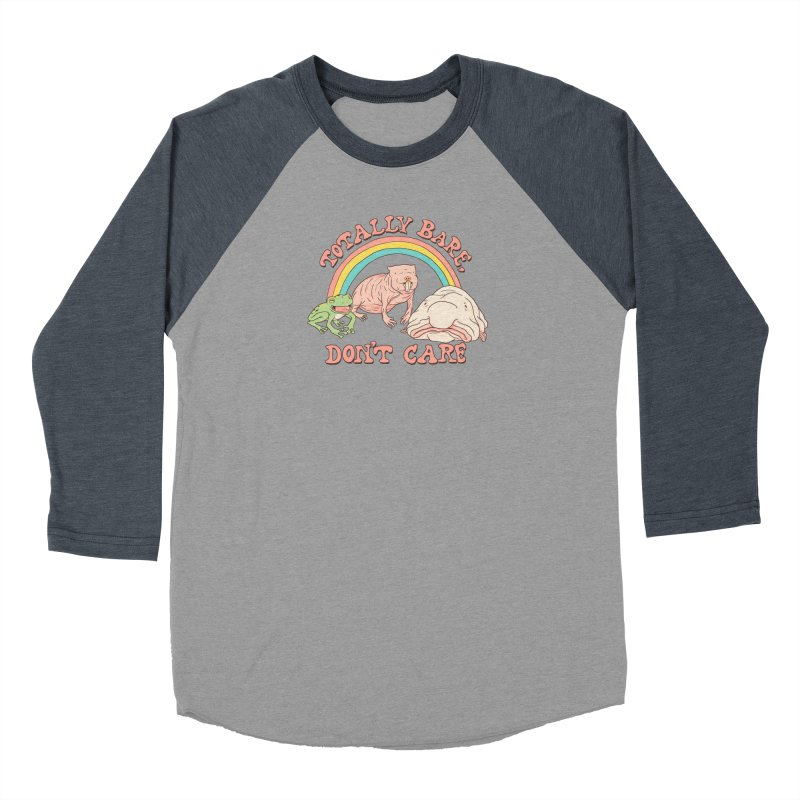 Totally Bare, Don't Care Women's Baseball Triblend Longsleeve T-Shirt by Hillary White