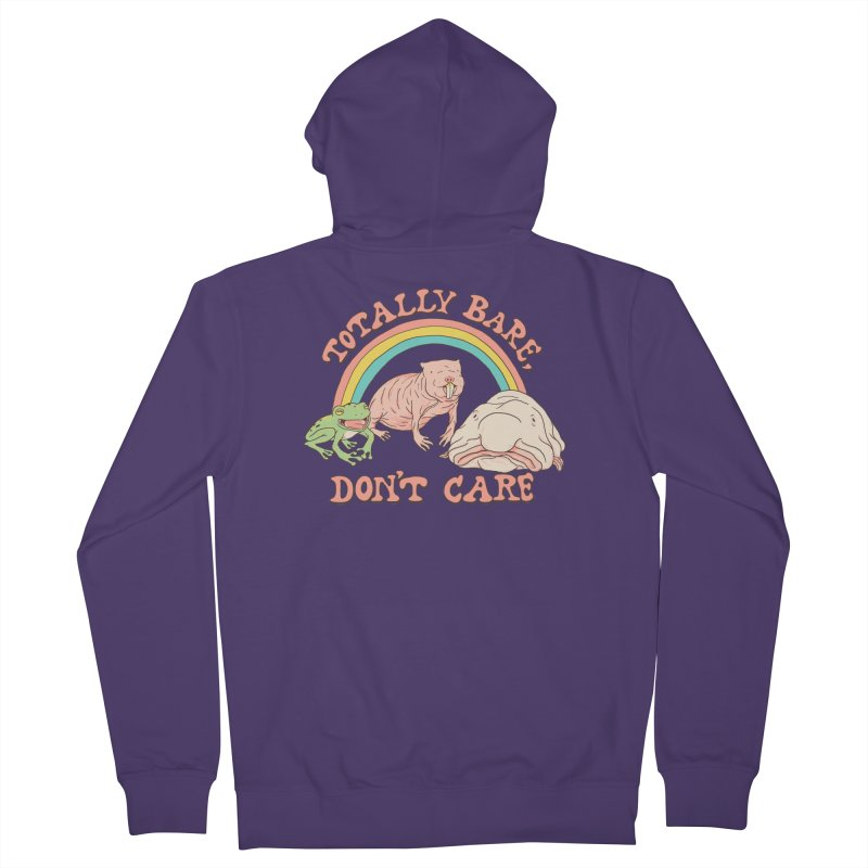 Totally Bare, Don't Care Women's French Terry Zip-Up Hoody by Hillary White