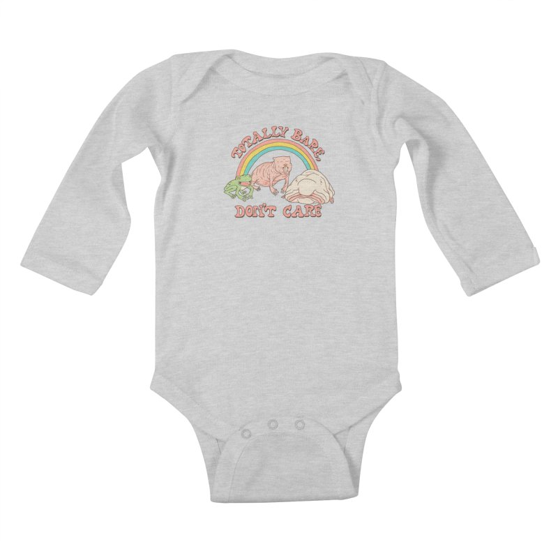 Totally Bare, Don't Care Kids Baby Longsleeve Bodysuit by Hillary White