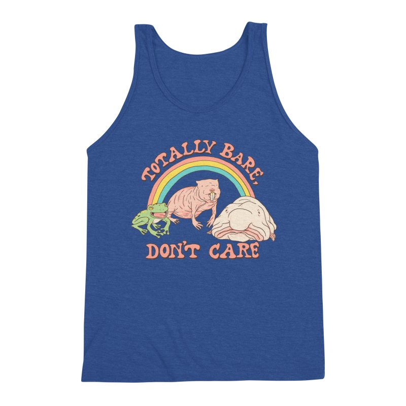 Totally Bare, Don't Care Men's Triblend Tank by Hillary White