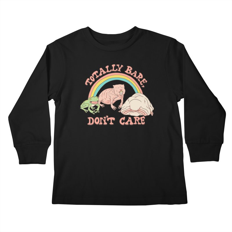 Totally Bare, Don't Care Kids Longsleeve T-Shirt by Hillary White