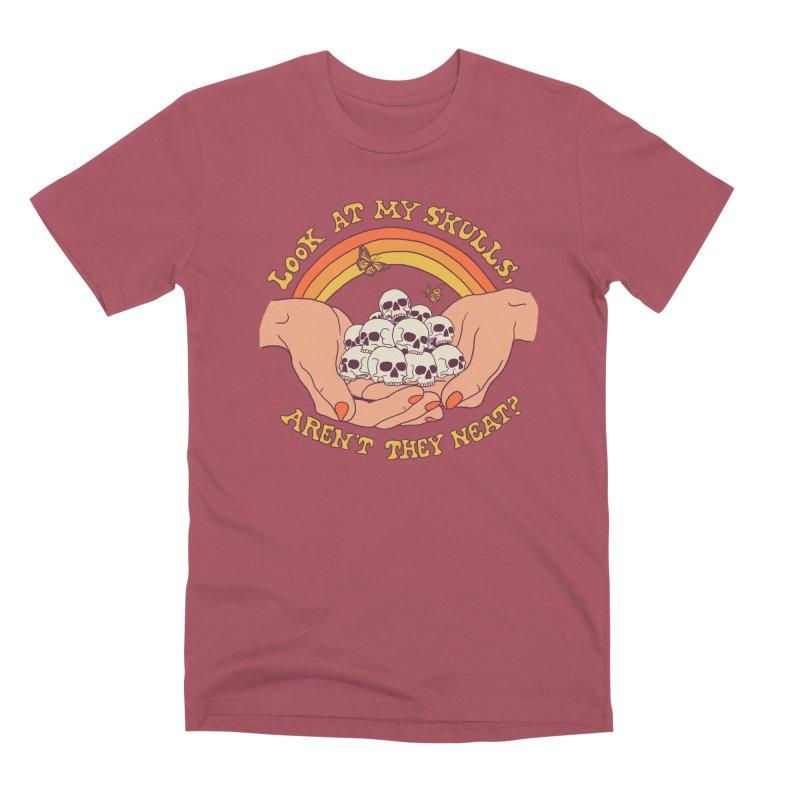 Look At My Skulls Men's Premium T-Shirt by Hillary White
