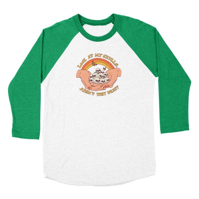 Look At My Skulls Women's Baseball Triblend Longsleeve T-Shirt by Hillary White