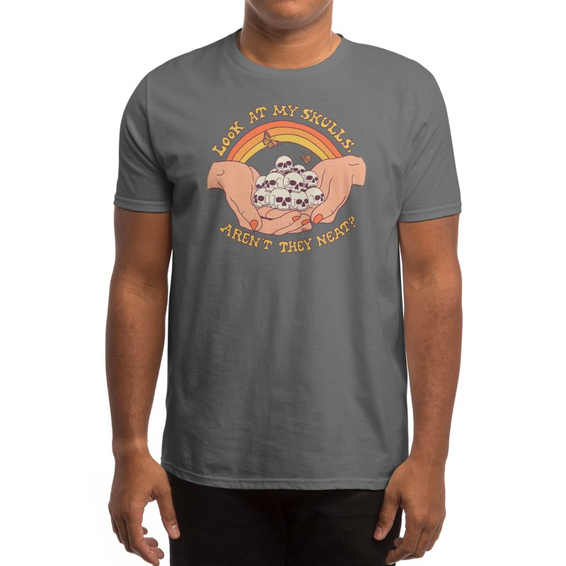 Look At My Skulls Men's T-Shirt by Hillary White