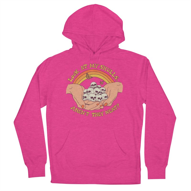 Look At My Skulls Men's French Terry Pullover Hoody by Hillary White