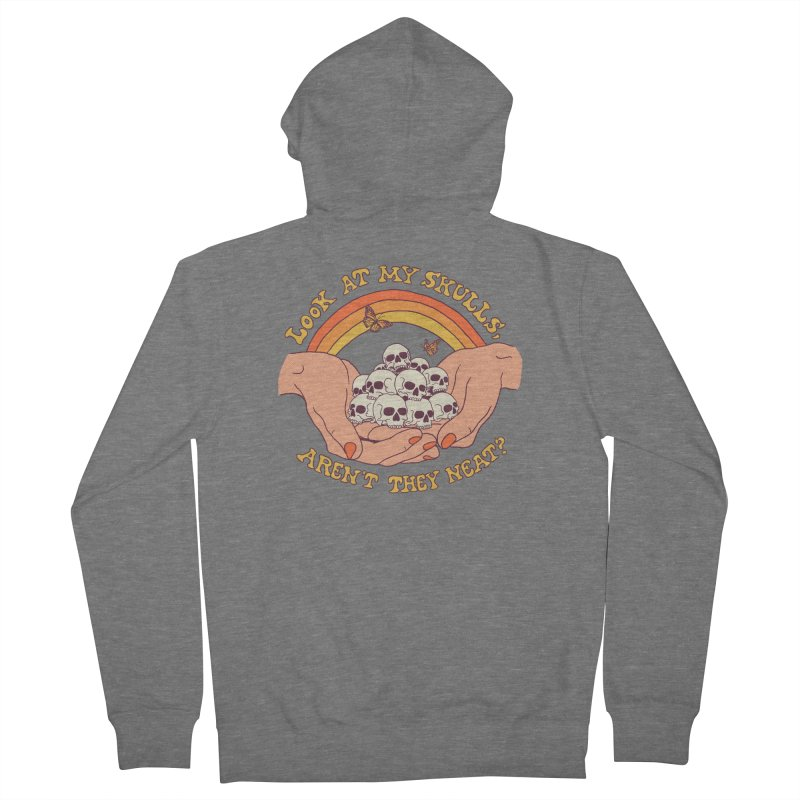 Look At My Skulls Women's French Terry Zip-Up Hoody by Hillary White