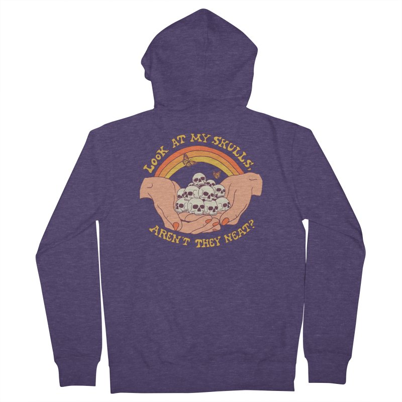 Look At My Skulls Men's French Terry Zip-Up Hoody by Hillary White