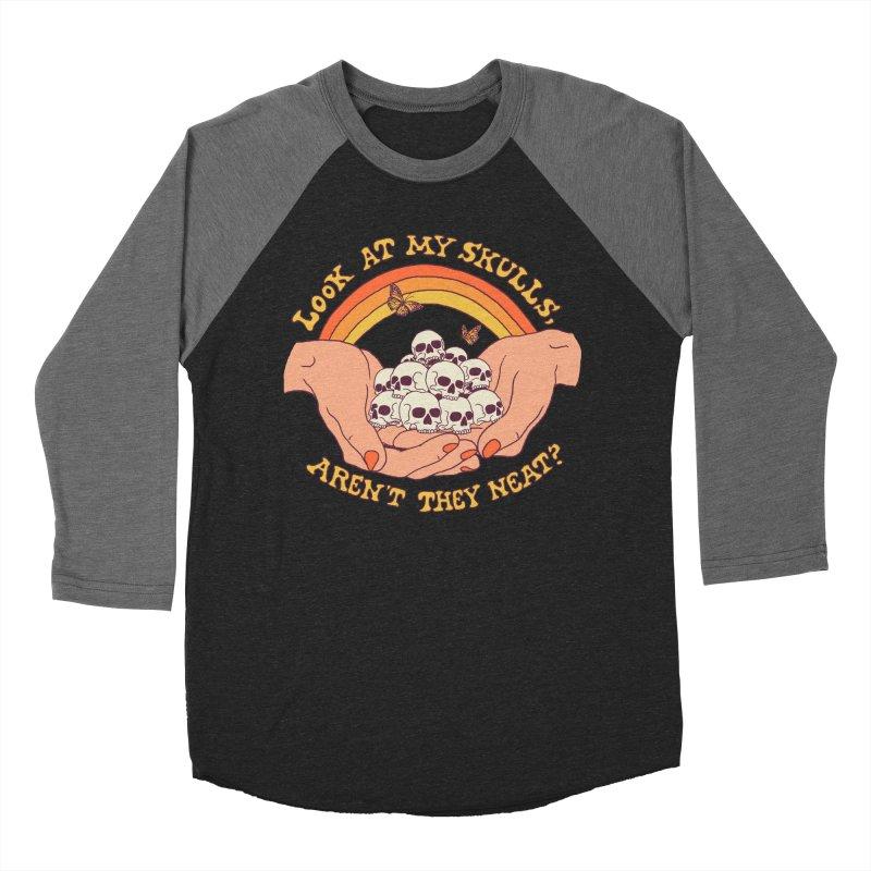 Look At My Skulls Men's Baseball Triblend Longsleeve T-Shirt by Hillary White