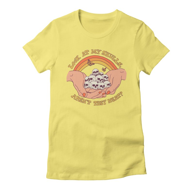 Look At My Skulls Women's Fitted T-Shirt by Hillary White