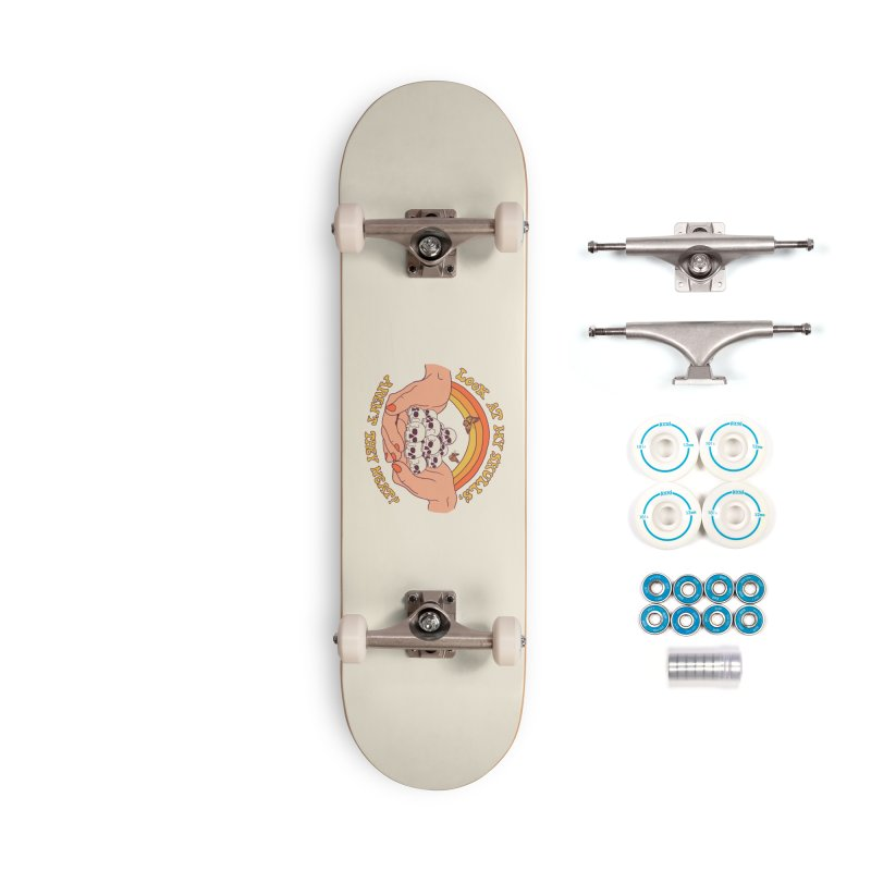 Look At My Skulls Accessories Complete - Basic Skateboard by Hillary White