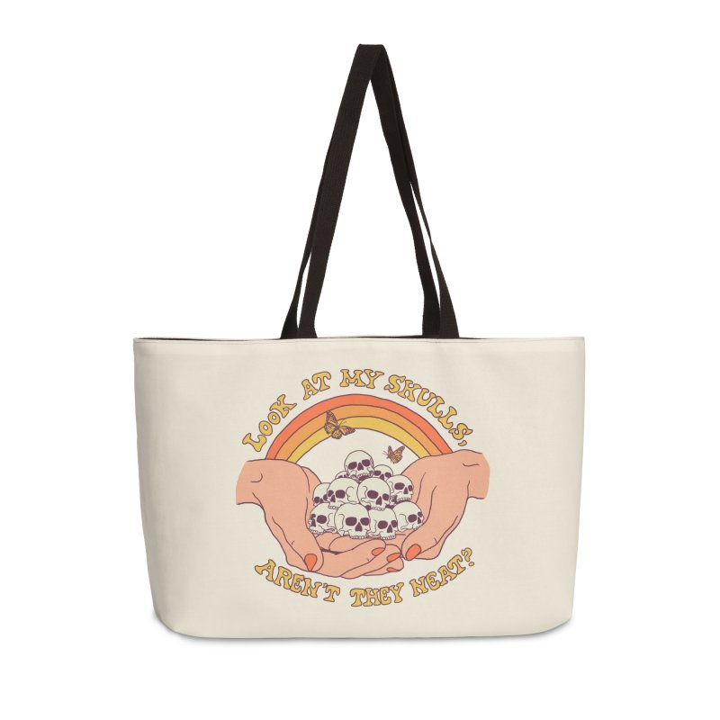 Look At My Skulls Accessories Weekender Bag Bag by Hillary White
