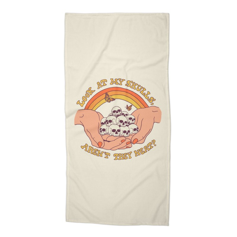 Look At My Skulls Accessories Beach Towel by Hillary White