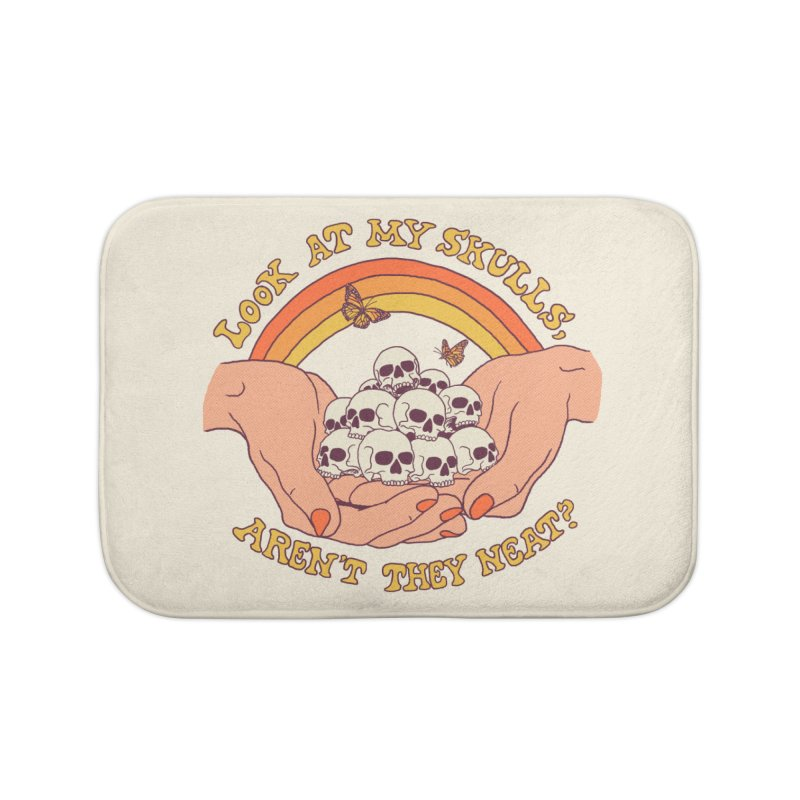 Look At My Skulls Home Bath Mat by Hillary White