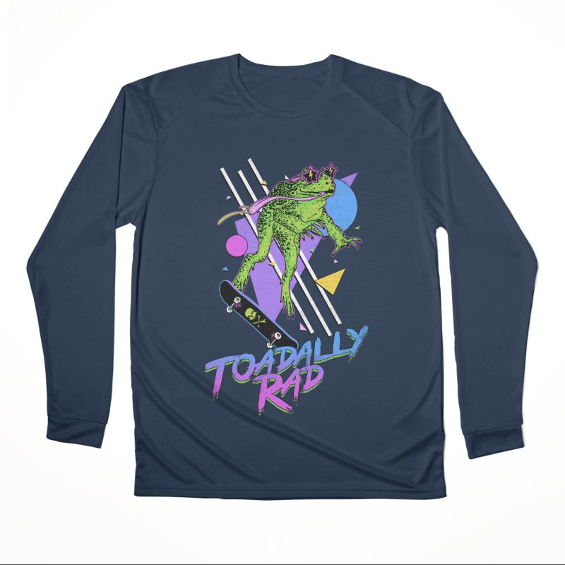 Toadally Rad Men's Performance Longsleeve T-Shirt by Hillary White