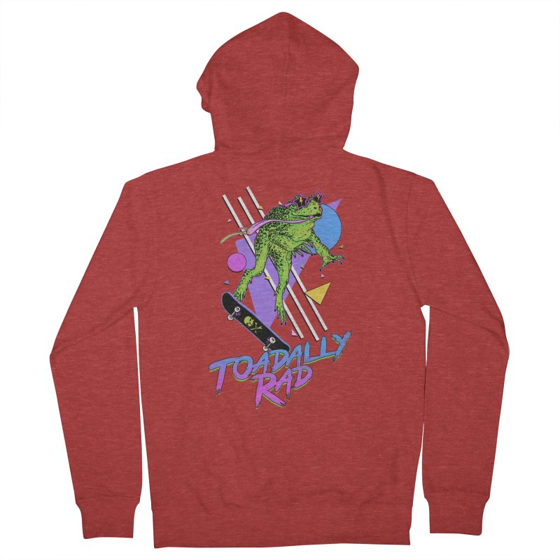 Toadally Rad Women's French Terry Zip-Up Hoody by Hillary White