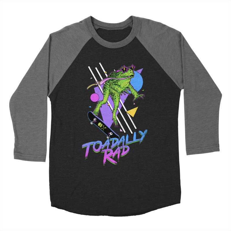 Toadally Rad Women's Baseball Triblend Longsleeve T-Shirt by Hillary White