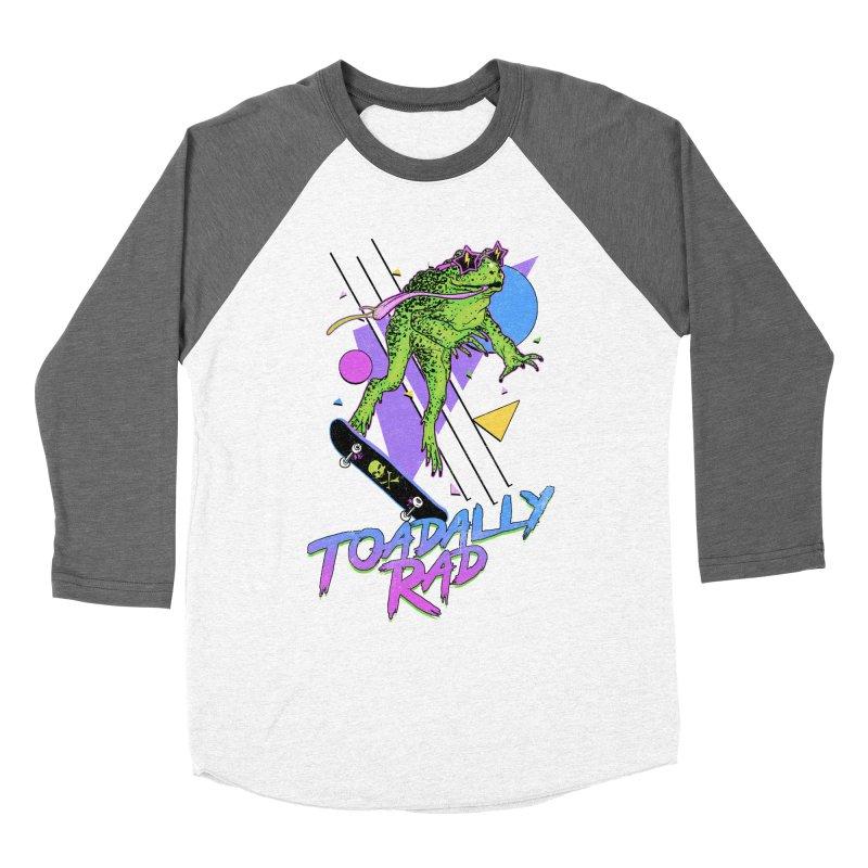 Toadally Rad Men's Baseball Triblend Longsleeve T-Shirt by Hillary White