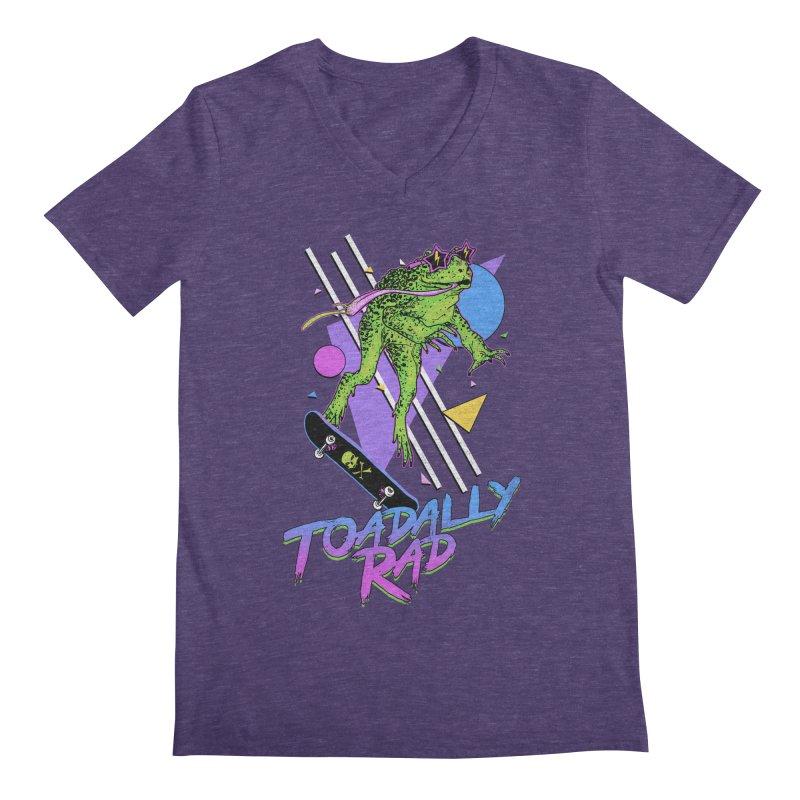 Toadally Rad Men's Regular V-Neck by Hillary White